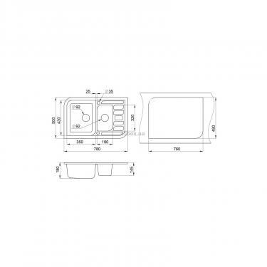 Мойка кухонная Minola MPG 5360-78 Графит Фото 1