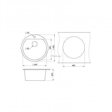 Мойка кухонная Minola MRG 1045-50 Эспрессо Фото 1