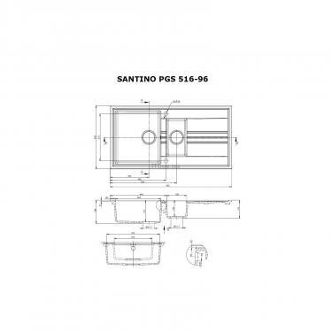 Мийка кухонна PERFELLI SANTINO PGS 516-96 SAND - фото 6