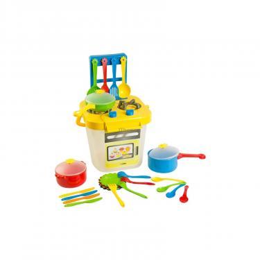 Игровой набор Тигрес Набор посуды Ромашка 25 эл. с желтой плиткой Фото
