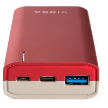 Батарея універсальна Vinga 10000 mAh soft touch red (BTPB3810QCROR) - фото 3