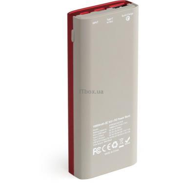 Батарея універсальна Vinga 10000 mAh soft touch red (BTPB3810QCROR) - фото 5