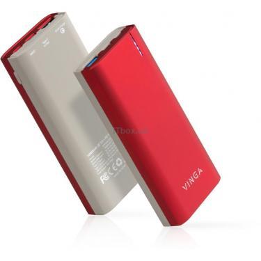 Батарея універсальна Vinga 10000 mAh soft touch red (BTPB3810QCROR) - фото 8