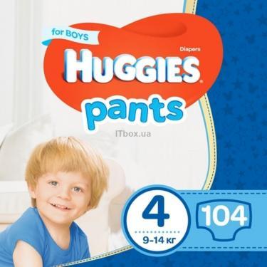 Подгузник Huggies Pants 4 для мальчиков (9-14 кг) 104 шт (52x2) (5029054216439) - фото 1