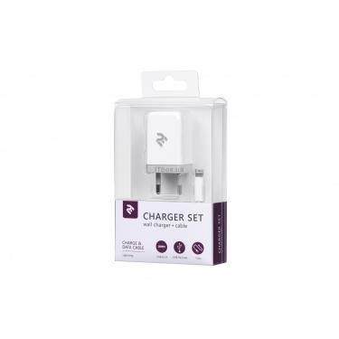 Зарядное устройство 2E USB Wall Charger USB:DC5V/2.1A +кабель Lightning 2.4A, white (2E-WC1USB2.1A-CL) - фото 3