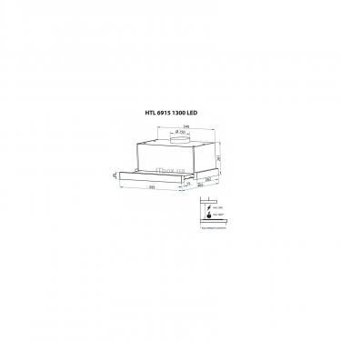 Вытяжка кухонная Minola HTL 6915 BL 1300 LED Фото 7