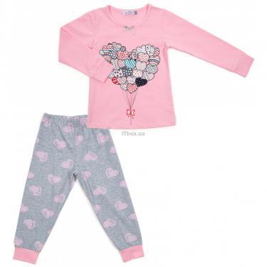 Пижама Matilda с сердечками (12101-2-116G-pink) - фото 1