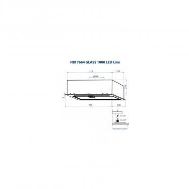 Вытяжка кухонная Minola HBI 7664 BL GLASS 1000 LED Line Фото 9