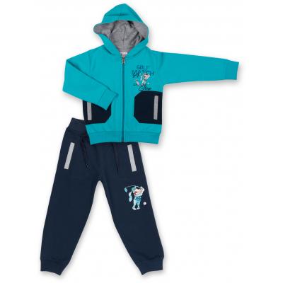 Спортивный костюм Breeze бирюзовый с собачкой (7879-92B-blue)