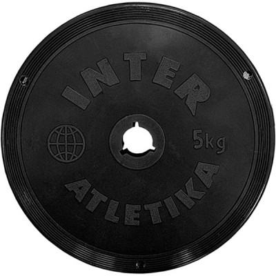 Диск для гантели InterAtletika 5кг (SТ520-4)