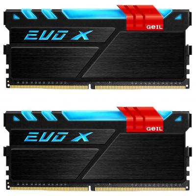 Модуль памяти для компьютера DDR4 16GB (2x8GB) 3200 MHz EVO X Black GEIL (GEX416GB3200C16DC)